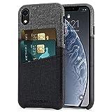Foto TENDLIN Cover iPhone XR Custodia Portafoglio in Pelle Premium con 2 Slot per Titolare della Carta Compatibile con iPhone XR (Grigio)