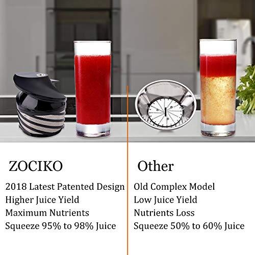 zociko Licuadoras para Verduras y Frutas, Exprimidor y Extractor ...