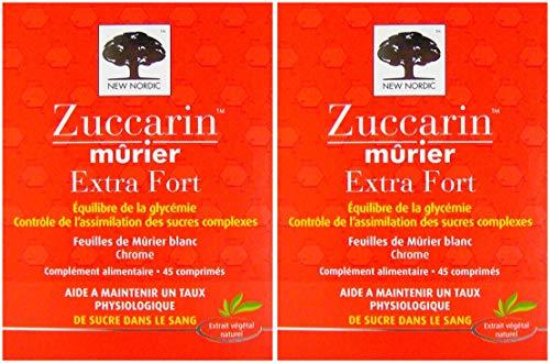 Zuccarin Mûrier Extra Fort - New Nordic - Lot de 2 x 45 Comprimés