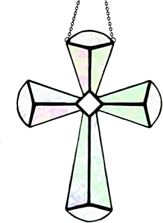 stained glass cross art