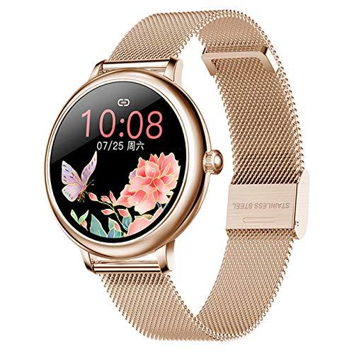 QNMB Redondo Lady Smart Watch CF80 Tasa cardíaca y monitoreo de la presión Arterial Podómetro Bluetooth Smart Pulsera Smart Watch,A