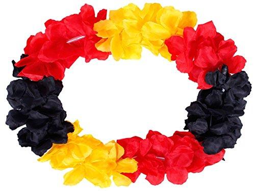 hawaiikette Noir Or Rouge Allemagne Collier de fleurs Hula chaîne Hawaï Multicolore 16 Diamètre 50 cm
