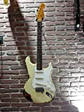 Fender Custom Shop 63 Stratocaster Heavy Relic - Madera de roble, color blanco vintage, 3 colores Sunburst