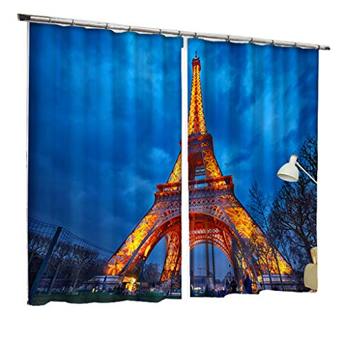 ZZHL Rideaux, Isolant Thermique Blackout S Crochet Piste Assombrissement Oeillet Salon Chambre 2 Panneaux Rideaux Intérieurs (Taille : 1.1x1.8m)