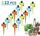 SUNGYIN Automatisch Bewässerung Set 12 Stück Garten Bewässerungssystem Einstellbar zur Pflanzen Blumen Zimmerpflanzen Bewässerung Urlaubsbewässerung