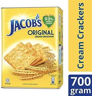 Jacob's Original Cream Crackers Wheat Cereal 700g Tin (1.54 pound) Breakfast Cereal Crackers Mondelez Malaysia