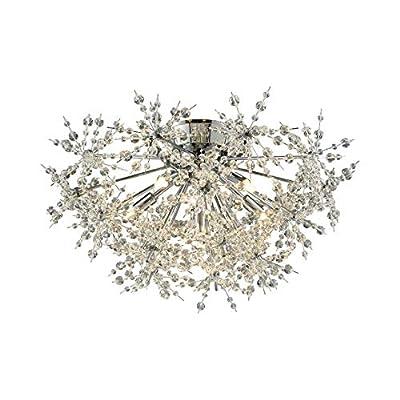 Elk Lighting 11891/6 Close-to-Ceiling-Light-fixtures, 12 x 21 x 21, Chrome