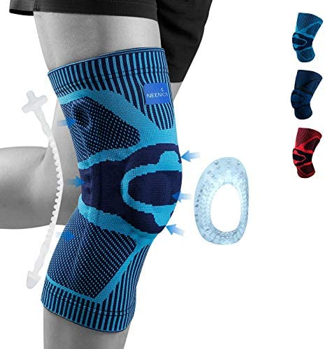 NEENCA Knee Brace Knee Compression Sleeve Support with Patella Gel Pad Side Spring Stabilizers product image