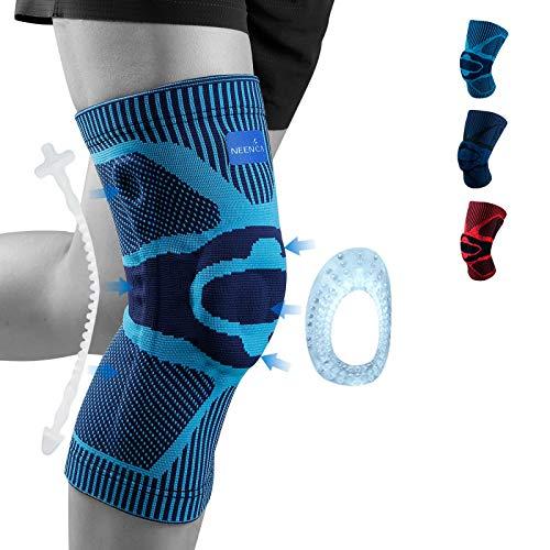 NEENCA Kniestütze, Komprimierte Kniebandage mit Patella Gel Pads & Feder Seitenstabilisatoren, Medizinischer Knieschützer für Laufen, Meniskusriss, Arthritis, Gelenkschmerzlinderung, ACL, Erholung
