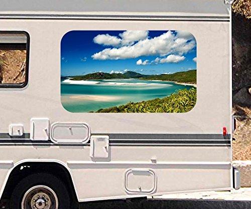 3D Autoaufkleber Landschaft Meer Ozean Australien Wohnmobil Auto KFZ Fenster Motorhaube Sticker Aufkleber 21A352, Größe 3D sticker:ca. 161cmx 96cm