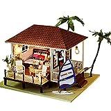 NDYD Casa de Madera Montaje Juguetes, DIY Cottage Miniatura Muñeca Casa Hecho A Mano Hecho A Mano Seaside Modelo Creativo Día de San Valentín Regalo de cumpleaños (Enviar Cubierta de Polvo) DSB