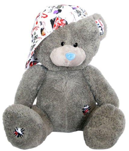 Wagner 9038 - Plüschbär Teddy Bär mit Kappe - 48 cm groß - Teddybär Kuschelbär