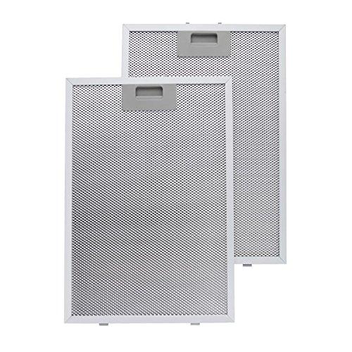 Klarstein Aluminium-Fettfilter Austauschfilter für geeignet für Klarstein Matthea Dunstabzugshaube (26 x 37 cm, Klickverschluss, Aluminium) silber