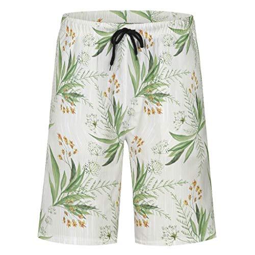 Bannihorse heren zwembroek vrije tijd short zomer strandmode sneldrogend zwemshorts zwempak zwembroek shorts met verstelbare trekkoord zakken zonder binnenslip