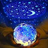 Star Night Light for Kids, Elmchee Universe Night Light Projection Lamp, Christmas Romantic Star Sea Birthday Projector lamp for Bedroom - 3 Sets of Film