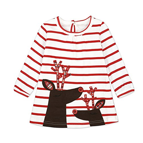 Costume Natale - Baby Set Bambini Xmas Cosplay Bambini Piccolo Babbo Natale Ragazzi Ragazze Abito Nuovo Anno Rosso Verde 3-24 Mesi Mxssi