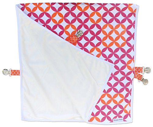 Bazzle Baby Go Blanket, Machine Washable & Soft Plush Travel Blanket with Secure Snaps to Keep Blanket in Place, Fits Car Seats & Strollers for Comfort on The Go