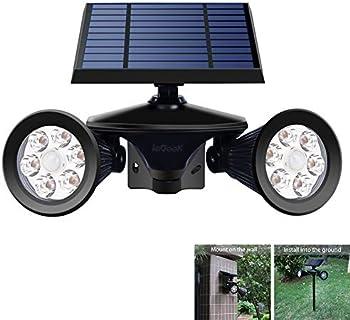 Iegeek Solar Spotlights Motion Sensor Yard Powered Lights