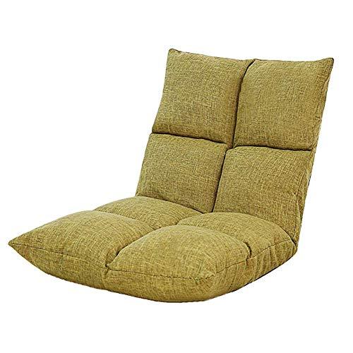 PIVFEDQX Lounge Sofá Cama Plegable Ajustable Suelo Tumbona Futón Colchón Asiento Silla, Amarillo2-555552cm