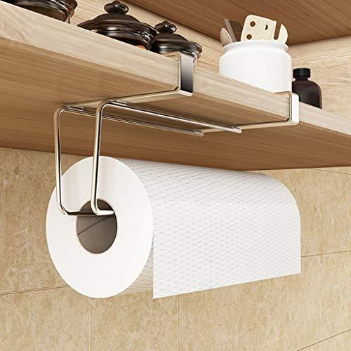 Soporte para papel Portarrollos, portarrollos de papel higiénico, portarrollos de baño, portarrollos de toallas de acero inoxidable, soporte de papel higiénico autoadhesivo for montaje en pared, sin t