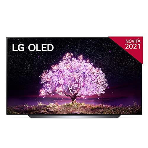 LG OLED65C14LB Smart TV 4K 65 , TV OLED Serie C1 2021 con Processore α9 Gen4, Dolby Vision IQ, Wi-Fi, webOS 6.0, FILMMAKER MODE, Google Assistant e Alexa Integrati, 4 HDMI 2.1, Telecomando Puntatore