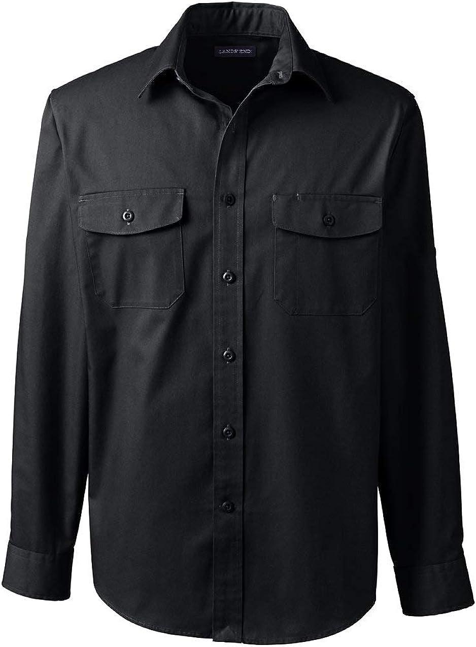 Lands' End Men's Long Sleeve Straight Collar Work Shirt