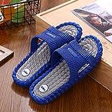 Nwarmsouth Zapatillas de Masaje para Mujer, Zapatillas de casa para Mujer, Sandalias Antideslizantes para Interiores de baño para Hombres, Azul Gris_38-39, Zapatillas sin Cordones para Mujer/Hombre
