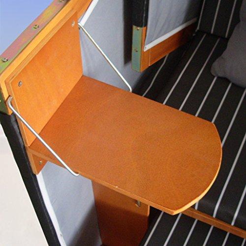 XINRO® – XY-71 – Volllieger Ostsee Strandkorb anthrazit inkl. Strandkorbhülle u. 4X Kissen, schwarzes Polyrattan, Ostsee Strandkorb Form - 3