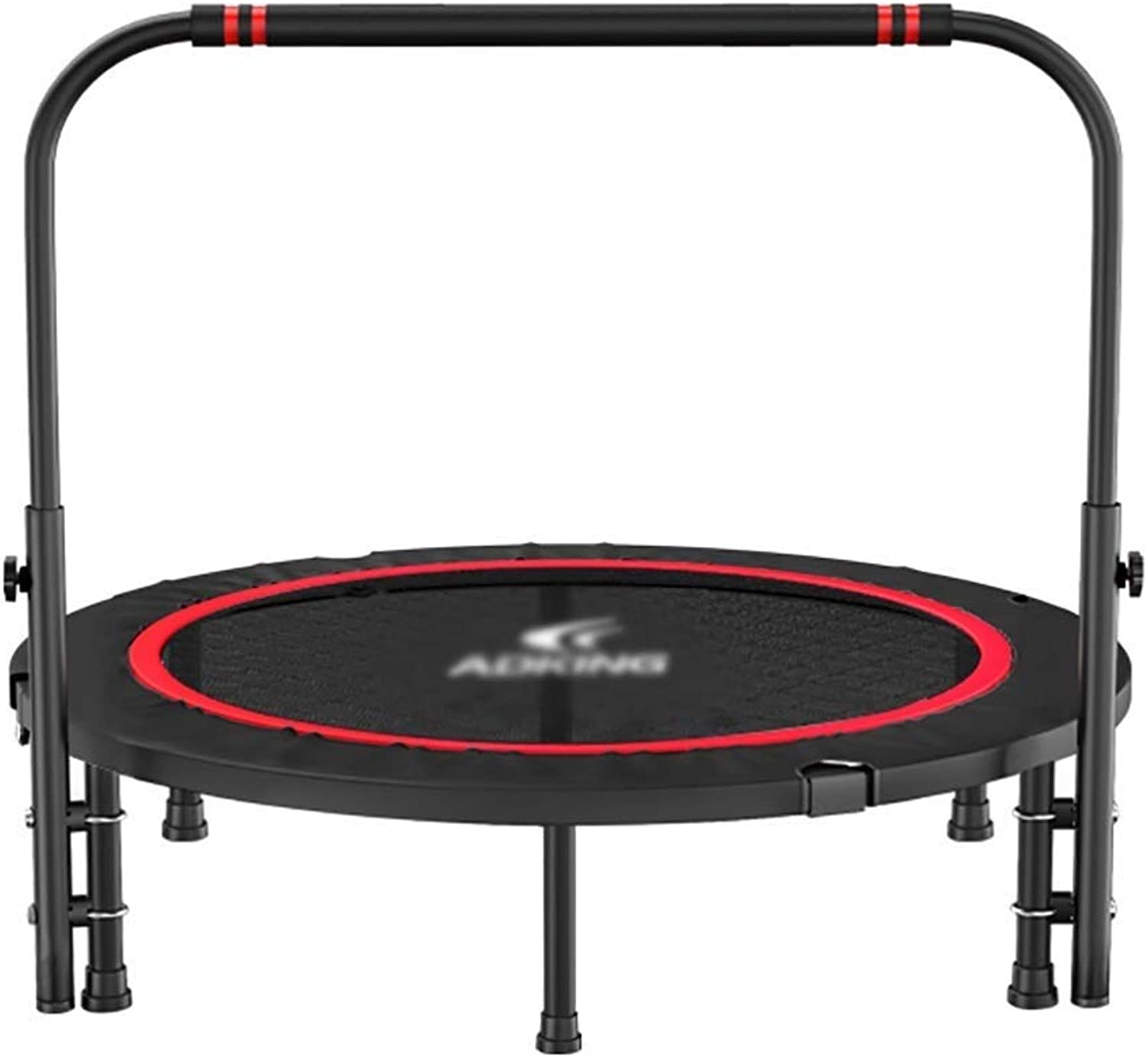 Mini Trampoline with Safety Pad, Adjustable Handrail Indoor Trampoline, Folding Fitness Trampoline for Adults Kids(2 Styles) (color   B)