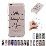V-Ted Coque Apple iPhone 5 5S Se Citation Silicone Ultra Fine Mince Bumper Housse Etui Cover Transparente avec Motif Dessin Antichoc Incassable