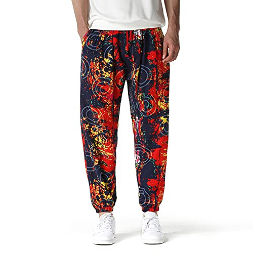 Nokiwiqis Pantalones Harem de yoga, para hombre y mujer, holgados, estilo hippie, bohemio, gitano, yoga, gitano, pantalones de harén con bolsillos