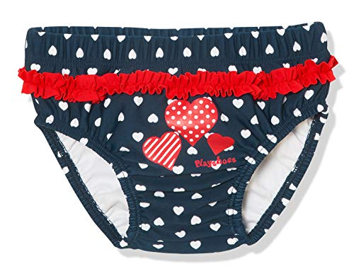 Playshoes UV-Schutz Windelhose Herzen Capo d'Abbigliamento, Blu (Marine 11, (Herstellergröße: 62/68) Baby-Mädchen