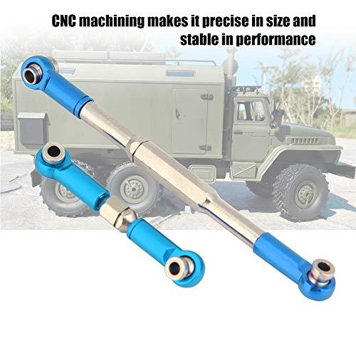 Dilwe RC Lenkstange, CNC-Bearbeitung Aluminiumlegierung Lenkgestänge Stangensatz für WPL 1608T RC Truck( Blau)