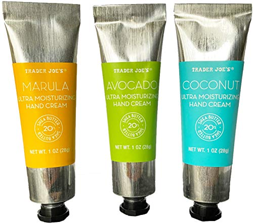 Trader Joe's Trio of Ultra Moisturizing Hand Cream,Avocado Oil, Maruda Oil, Coconut Oil (1 ounce each)