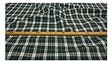 Fabrics-City WEIß/BLAU/GRÜN BAUMWOLLKARO SCHOTTENKARO