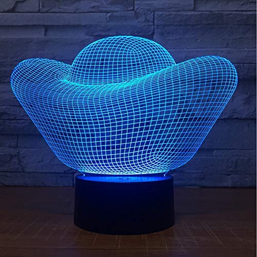 Goldbarren Geld 3D Led Lampe 7 Farbe Led Nachtlichter Touch USB Tischlampe Nachtlicht Werbegeschenk