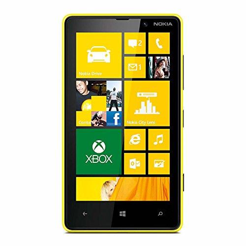 Nokia Lumia 820 Smartphone (10,9 cm (4,3 Zoll) Touchscreen, Snapdragon S4, Dual-Core, 1,5GHz, 1GB RAM, 8 Megapixel Kamera, Win 8) glänzend gelb