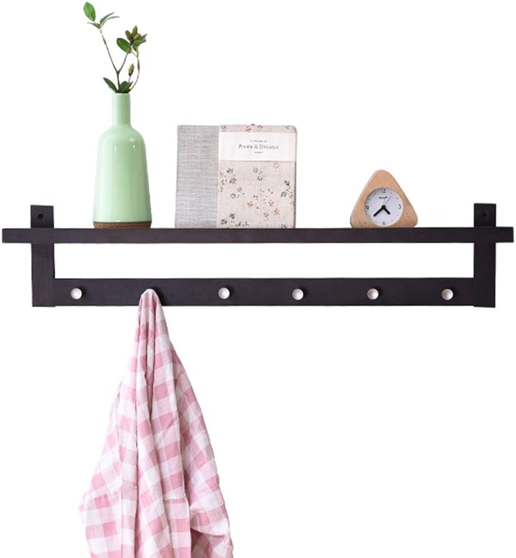Feifei Coat Rack Solid Wood Creative Wall-Mounted Decorative Frame Multifunctional Simple Storage Rack Hanger, 4 Sizes (Size   86  12  18cm)