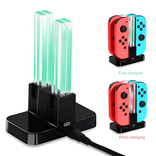 Controller Charging Dock for Nintendo Switch, OIVO Joy con Controller Charger Station for Nintendo Switch- USB C Cable Included