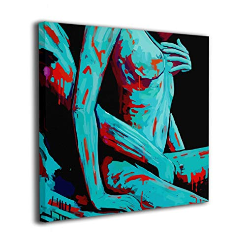 MoulMa Canvas Sexy Erotic Naked Couple Love Moment Nude Woman Man Picture Paintings Wall Art Prints Modern Decorative Giclee Artwork Wall Decor-Wood Frame Gallery Stretched