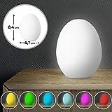 LED-Stimmungslicht Ei-Form - EEK: A++ - 6,7/6,7/8,4 cm, 1er/2er, Lichtfarben: Rot, Blau, Grün,...
