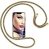 MTB More energy® - Cadena para teléfono móvil compatible con Honor 8A, Huawei Y6s (6,09 pulgadas), color natural y dorado