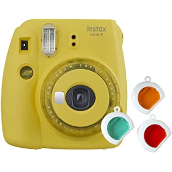 Fujifilm Instax Mini 9 Instant Camera (Clear Yellow)