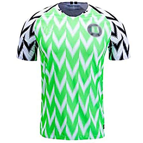 Camisetas Deportivas de Manga Corta para Hombre, Camisa de fútbol de Nigeria, 2018 Rusia Soccer Home Jersey, Regalos para Hombres L