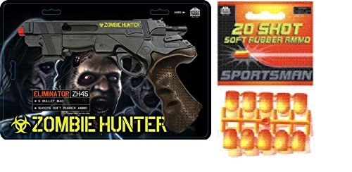 Parris Zombie Hunter Toy Air Soft Gun with 20 Soft Rubber Ammo