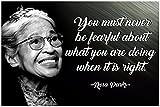 Rosa Parks Zitat Poster Black History Month afrikanische
