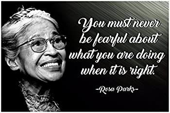 Rosa Parks Quote Posters Black History Month African American Wall Art Womens History Month Poster African Empowered Women Empower Well Behaved Women Rarely Make History Bad Girls Throughout P013
