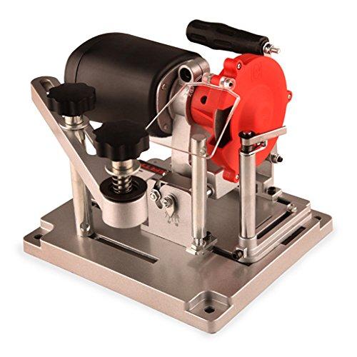 Eberth Saw Affilatrice temperamatite TCT circolare di rettifica (110W, 5300 rpm, 90-400 mm, angolo di affilatura regolabile, disco diamantato e mola ceramica) nero rosso