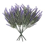Houseables Faux Lavender, Frosted, Purple, 4 Bundles, Plastic, Fake Plant, Decor, Modern, Mantel Decorations, for Indoor, Outdoor, Home, Bedroom Accessories, Kitchen, Living Room