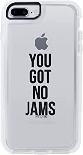 Ultra Slim iPhone Case - Silicone Protective Cover - Compatible for iPhone 8 - You Got No Jams - Funny Diss Jimin - Rm Iconic Quotes - Sassy - Savage - White Flexible Soft TPU Cover Case